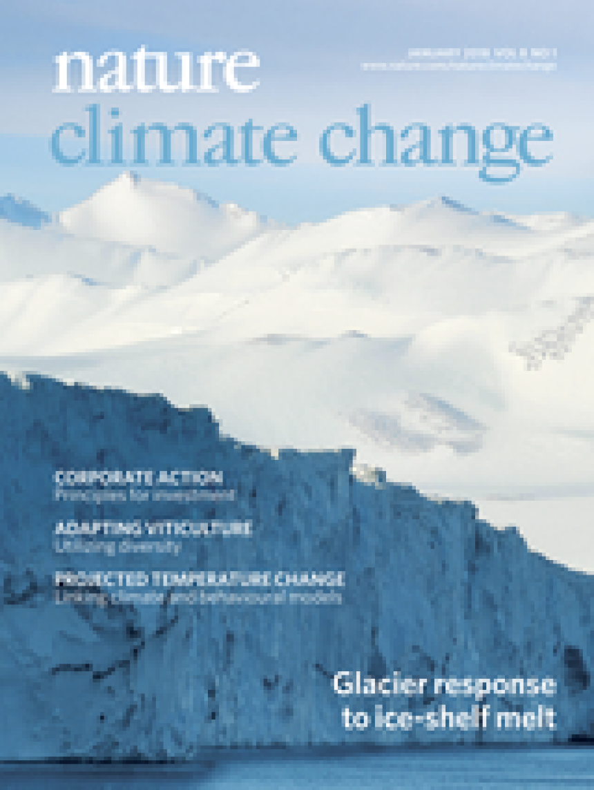 Cover Nature Climate Change