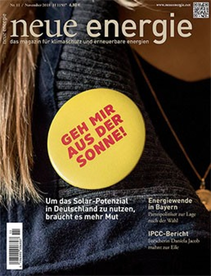 Cover neue energie Interview Daniela