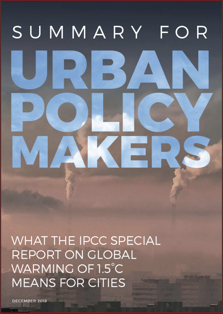 Cover Summary for Urban Policymakers
