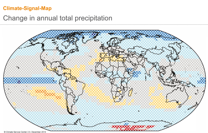 CSM annual total precipitation